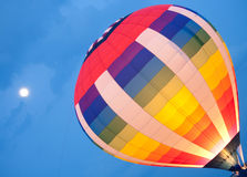 Hot Air Balloon Launch Lit Up Royalty Free Stock Photography