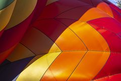 A Hot Air Balloon Launch At A Local Festival royalty free stock photography