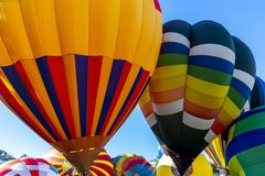 A Hot Air Balloon Launch At A Local Festival royalty free stock images