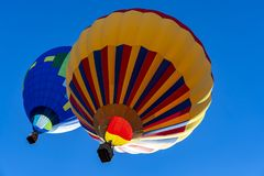 A Hot Air Balloon Launch At A Local Festival stock photography