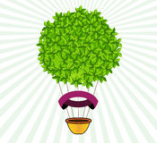 Hot Air Balloon with Leaves Royalty Free Stock Photo