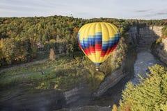 Hot Air Balloon At Letchworth State Park Stock Photos