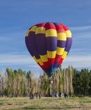 Hot Air Balloon Lift Off Stock Photo