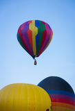 Hot Air Balloon Lifting off on Summer Day Royalty Free Stock Photo