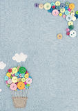 Hot air balloon made of multicolored buttons2 Royalty Free Stock Photography