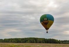 Hot air balloons takeoff. Makariv, Ukraine. Royalty Free Stock Photos