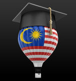 Hot Air Balloon with Malaysia flag and Graduation cap Stock Images