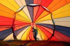 Hot air balloon and man Royalty Free Stock Photos