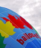 Hot air balloon maple leaf canada Royalty Free Stock Image