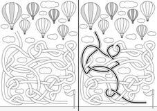Hot air balloon maze Royalty Free Stock Photos