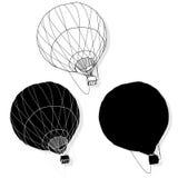 Hot Air Balloon / montgolfier. Fine illustration Stock Photos