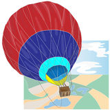 Hot Air Balloon / montgolfier vector.  Royalty Free Stock Photo