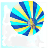 Hot Air Balloon / montgolfier vector. Hot Air Balloon / montgolfier and Clouds Royalty Free Stock Photo
