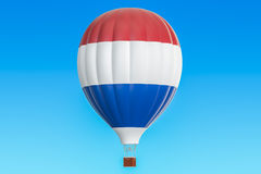 Hot air balloon with Netherlands flag, 3D rendering. Hot air balloon with Netherlands flag, 3D Royalty Free Stock Image