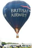 Hot Air Balloon at Newcastle airport. BA Hot Air Balloon at Newcastle airport as part of  the airports 75th Anniversary celebrations Stock Photography