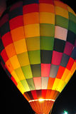 Hot air balloon at night. Royalty Free Stock Photography