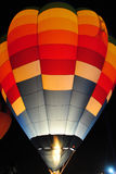 Hot air balloon at night. Royalty Free Stock Images