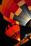 Hot air balloon at night. Royalty Free Stock Photos