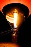 Hot air balloon at night stock image