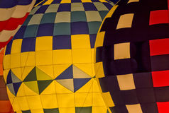 Hot Air Balloon Night Glow Royalty Free Stock Images