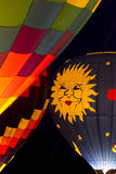 Hot Air Balloon Night Glow Stock Images