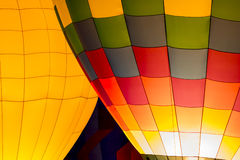 Hot Air Balloon Night Glow Stock Photos