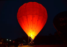 Hot air balloon at night. Stock Image