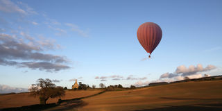 Hot Air Balloon - North Yorkshire Countryside - England Royalty Free Stock Image