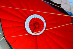 Hot air balloon. The open canopy hot air balloon stock images