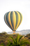 Hot air balloon over the african savannah Stock Photos