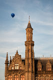 Hot air balloon over Bruge Royalty Free Stock Photo