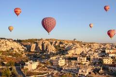 Hot air balloon over capadocia