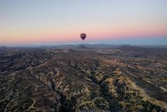 Hot air balloon over Cappadocia royalty free stock image