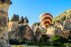 Hot air balloon over Cappadocia Stock Image