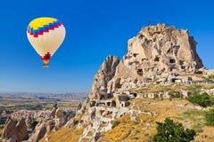 Hot air balloon over Cappadocia Stock Images