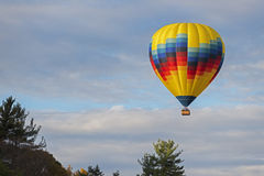 Hot Air Balloon Over Letchworth Royalty Free Stock Photos