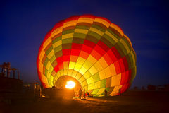 Hot air Balloon. Over at luxor - Egypt Royalty Free Stock Image