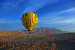 Hot air Balloon. Over at luxor - Egypt Stock Image