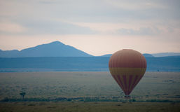 Hot Air Balloon over Masai Mara. Kenya. Balloon Safari is one of the most popular ' add-on ' option with tourists on Safari or Beach Holidays in East Africa Royalty Free Stock Photo