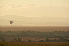 Hot air balloon over Masai Mara Royalty Free Stock Photo