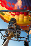 Hot Air Balloon Over North Phoenix Desert Stock Photography