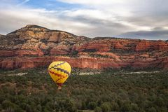 Hot Air Balloon Over Sedona Arizona Royalty Free Stock Photo