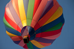 Hot air balloon passed above Royalty Free Stock Photos