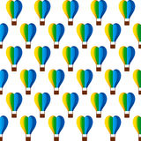 Hot air balloon pattern design Royalty Free Stock Images