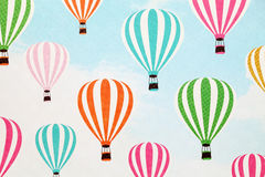 Hot air balloon pattern paper. Close up of hot air balloon pattern paper Stock Photo