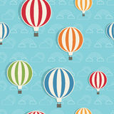 Hot air balloon pattern Stock Photography