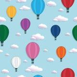 Hot air balloon pattern Royalty Free Stock Image