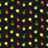 Hot air balloon pattern Stock Photos