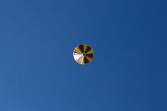 Hot air balloon. Photographed against the blue cloudless sky Stock Image