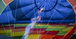 Hot-air balloon. Photographs of the interior of a hot air balloon aircraft stock photo